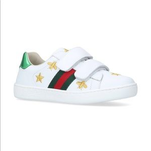 Gucci Kids Ace sneakers white strap Star bee 29/ 7